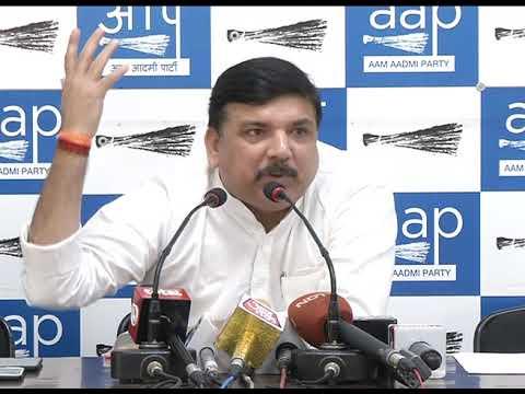 "LG and Central Govt Showing the dictatorship says "" Rajya Sabha Member Sanjay Singh"""