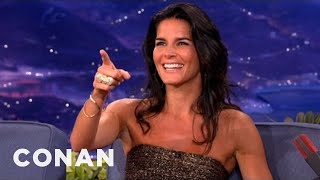 Conan - Angie Harmon researches the way of real men