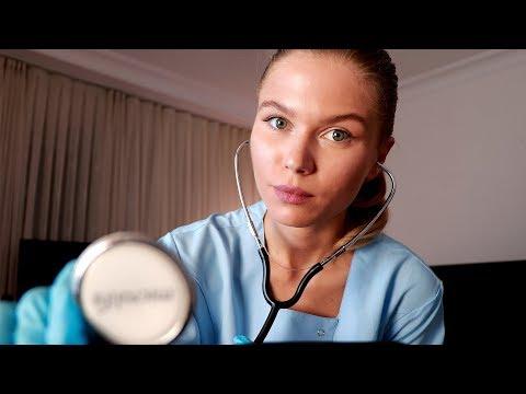 [ASMR] Night Nurse Lizi Checks You and Help You Sleep.  Medical RP, Personal Attention