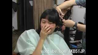 TKB51 断髪ビデオ #617 刈り上げ女子高生 ☆サンプル☆High School Girl Haircut
