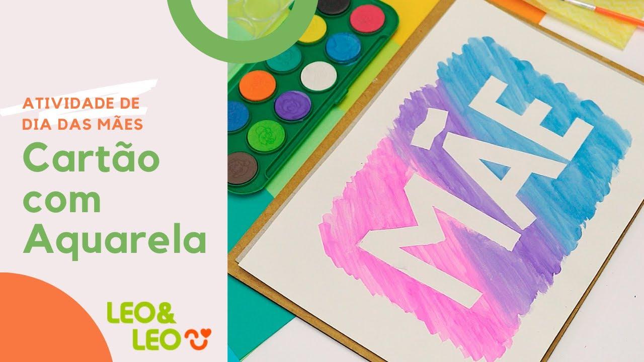 Atividade: Cartão de Dia das Mães com Aquarela