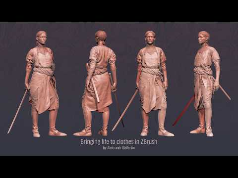 Bringing Life To Clothes In ZBrush