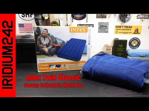 Intex Twin Classic Downy Inflatable Mattress Review!