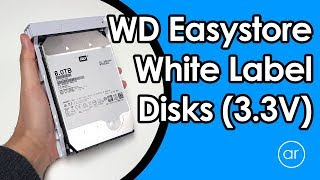 How to Fix the 3.3V Pin Issue in White Label Disks Shucked from Western Digital 8TB Easystore Drives