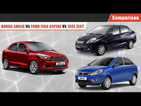 Ford Figo Aspire vs Honda Amaze vs Tata Zest | Comparison Video| CarDekho.com