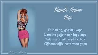 Hande Yener   Kuş  Şarkı Sözleri (Lyrics)