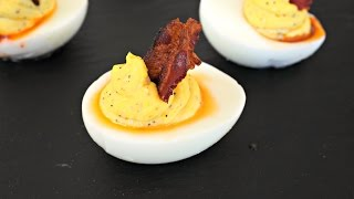 Appetizer Recipe: Deviled Eggs with Pepper Jelly & Bacon by Everyday Gourmet with Blakely
