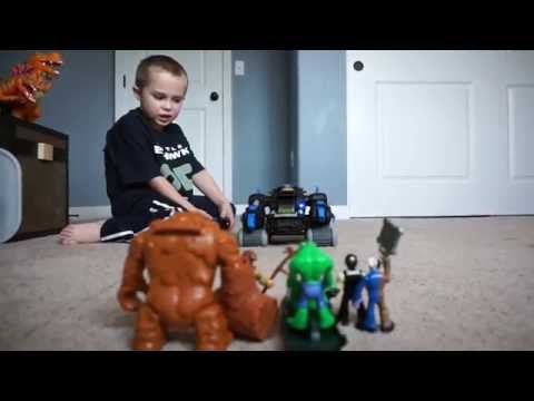 Imaginext Batman Remote Controlled Robot in action with a review!