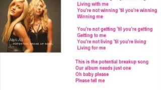 Aly & Aj Potential Breakup Song   SingAlong