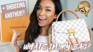 WHAT'S IN MY LOUIS VUITTON CROISETTE + UNBOXING ANOTHER NEW ONE!?   Stephanie Ledda