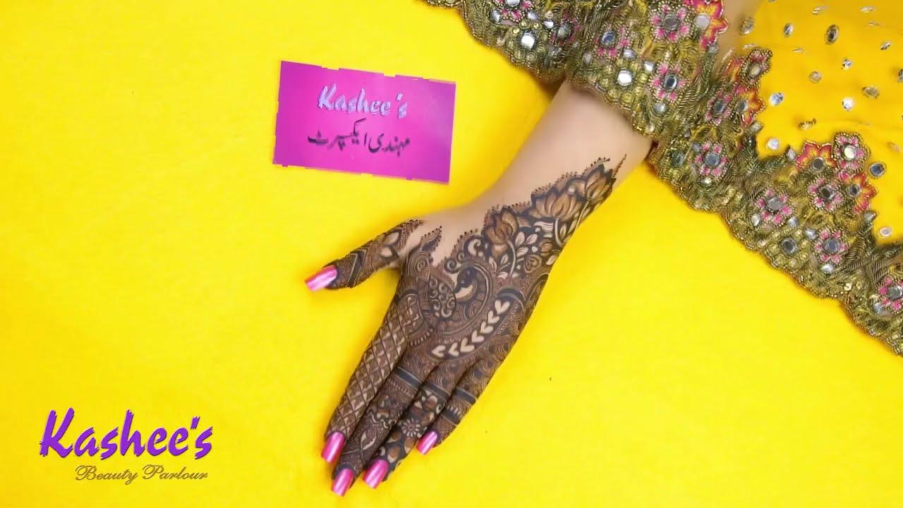 peacock mehndi designs bridal by kashees beauty parlour