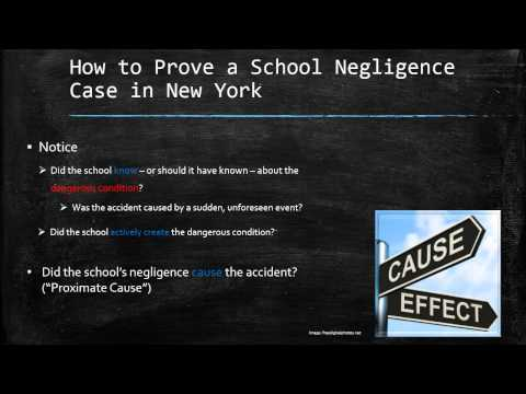 How to Prove a School Negligence Case in New York