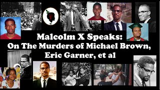 Malcolm X Speaks: On Murders of Michael Brown, Eric Garner, et al
