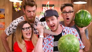 Watermelon Carving Challenge ft.Rhett and Link