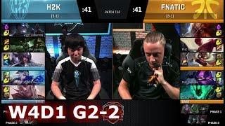 Fnatic vs H2K Gaming | Game 2 S7 EU LCS Summer 2017 Week 4 Day 1 | H2K vs FNC G2 W4D1