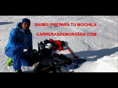 Esqui de Montaña: Cómo preparar la mochila para esquí de travesía.