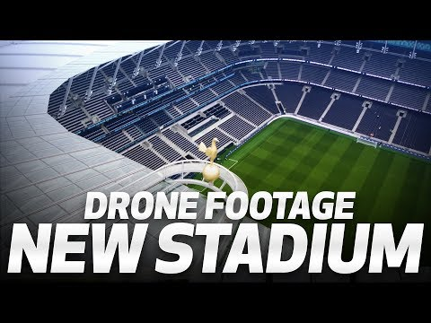 SPURS NEW STADIUM DRONE FOOTAGE!