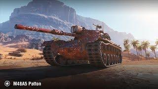 M48A5 Patton | 10К урона | Песчаная река – Встречный бой