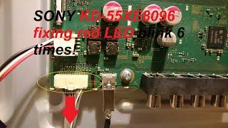 Lösung/Reparatur Sony TV KD 55XE8096 blinkt 6 mal rot!