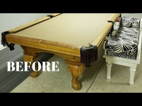 I Repurposed a Pool Table Into a DIY Craft Table! – Furniture Makeovers – Thrift Diving