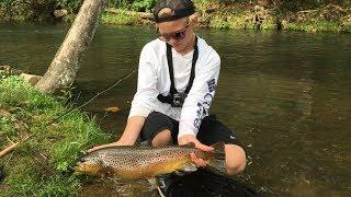 "Fly Fishing ""Dry Run Creek"" Arkansas"