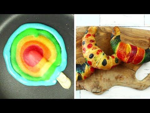 You Bake Me Crazy | RAINBOW PAN CAKES | Cake Hacks | Easy DIY Recipes By Hoopla Recipes