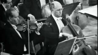 Brahms Double Concerto : David Oistrakh (violin) & Mstislav Rostropovich (cello) / Complete.