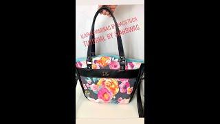 Ilaria Handbag Tutorial Pattern By Bagstock Designs