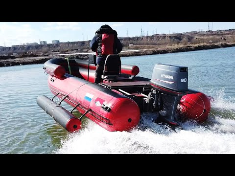 SWIFT SUPERJET 500 UNDER YAMAHA 90. WATER-JET ASSAULT BOAT.