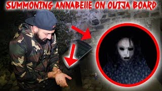 I SUMMONED ANNABELLE THE GHOST with A HAUNTED OUIJA BOARD & THIS HAPPENED TO ME!! | MOE SARGI