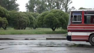 Икарус-256(выезд с вокзала)г.Кириши