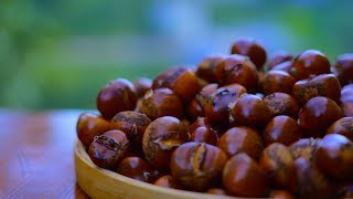 Chinese food | Autumn chestnut is so delicious, very delicious | wild girl