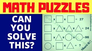 #Math #Brainteasers With Answers For High School Students