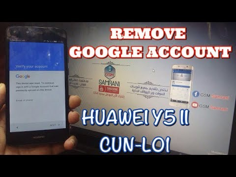 HUAWEI Y5 II CUN-L01 REMOVE GOOGLE ACCOUNT ANDROID 5 1 NEW
