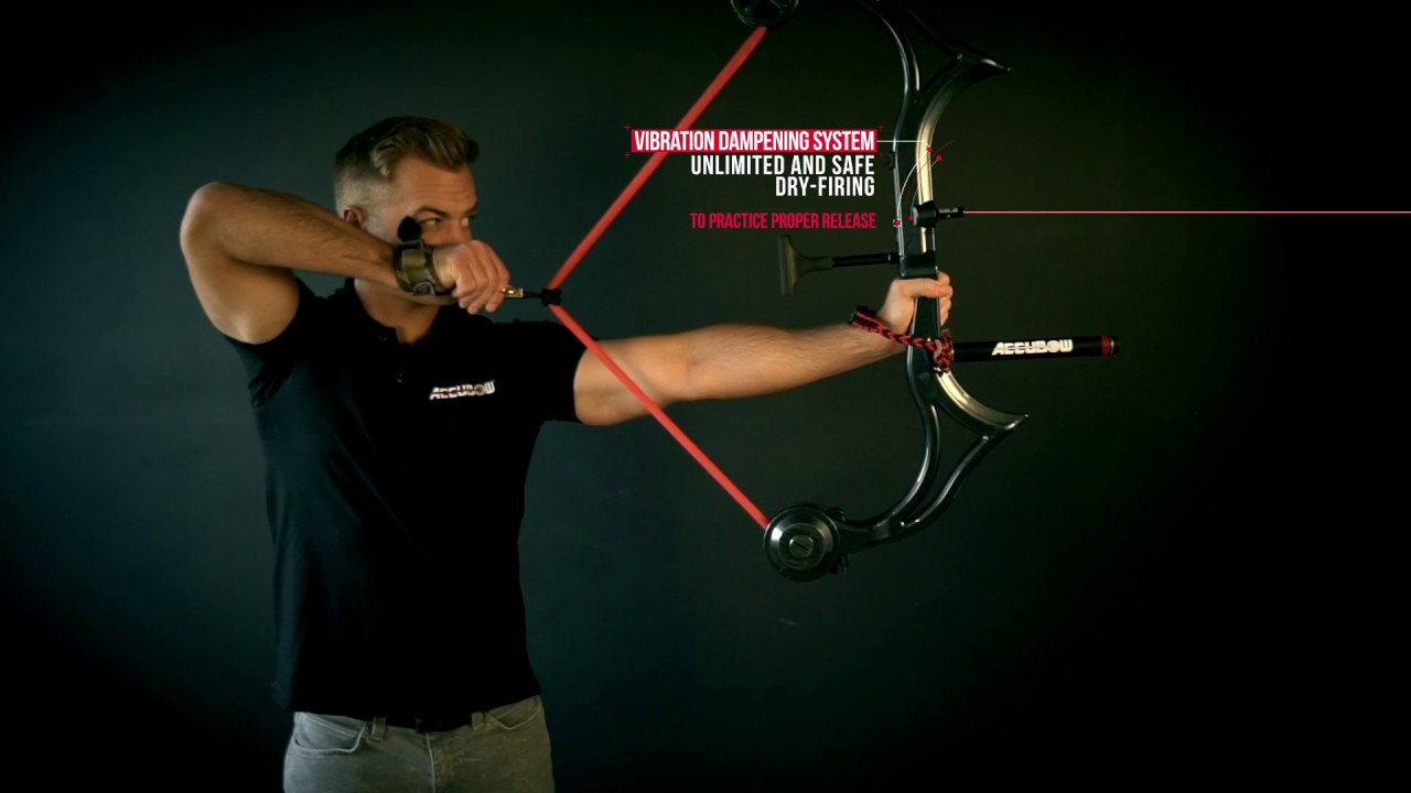 AccuBow // Archery Training Device + Phone Mount (Black + Red) video thumbnail