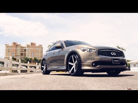 "Infiniti FX on 22"" Vossen VVS-CV3 Concave Wheels / Rims"