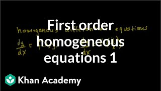 First order homegenous equations