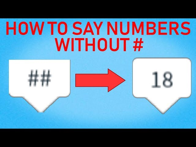 How To Write Numbers In Roblox 2019 How To Type Numbers In Roblox