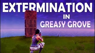 SOLO vs SQUAD | GREASY GROVE EXTERMINATION - (Fortnite Battle Royale)