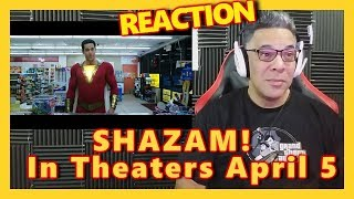 SHAZAM! Teaser trailer REACTION - In Theaters April 5