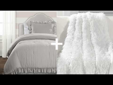 Soft Stripe All Season Quilt/Coverlet Set