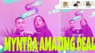Myntra exchange offer /Give ur old clothes Buy new clothes