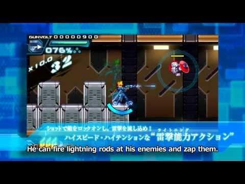 Azure Striker Gunvolt (3DS) - Gameplay