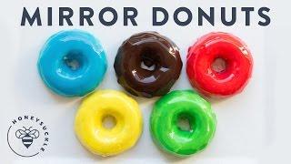 MIRROR Glaze Olympic Donuts! | HONEYSUCKLE