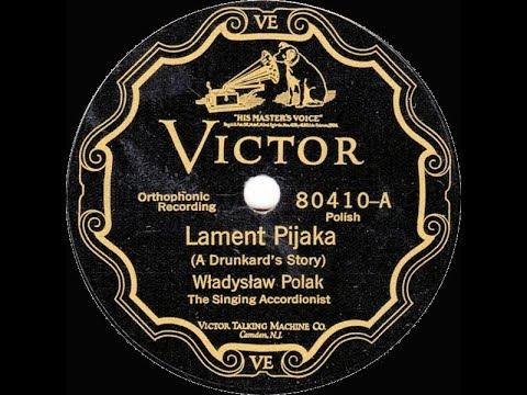 Polish 78rpm recordings, 1927. VICTOR 80410. Lament pijaka / Krakowiaki Makowiaki.