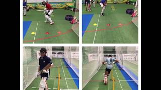 Foot work drills for batting