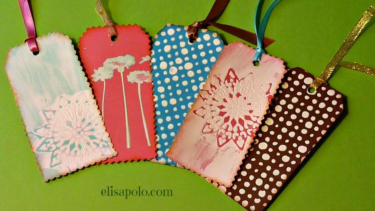 DiY, Cómo Hacer Etiquetas de Regalo, Gifts Tags, Como Hacer Tags