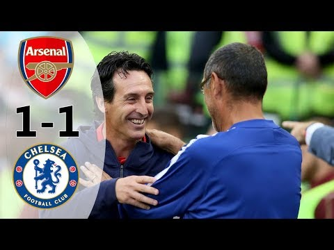Arsenal Vs Chelsea 1-1 (6-5) All Goals & Extended Highlights 2018