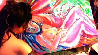 Nude painting beauty In your eyes ,By candle light,ladykashmir