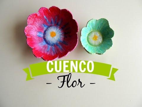 CUENCO FLOR CON PASTA DE PAPEL - MononoDIY♥